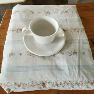 RALPH LAUREN Julianne Floral Stripe King 2 Pillowcases Flat Sheet French Country