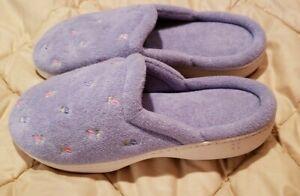 Isotoner Women's Purple Slipper 7 US