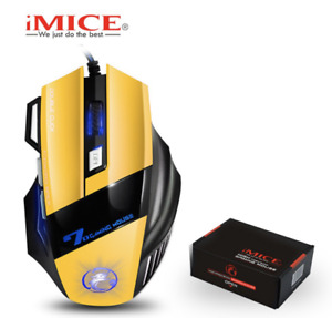 Mouse Gaming Wired Pc Usb Button Dpi Laptop Led Optical Mice Express Shipping