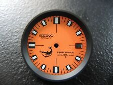NEW MODIFIED ORANGE DIAL W/ BLACK CHAPTER RING FITS SEIKO 7002-7001 DIVERS WATCH