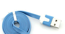 3ft Flat Noodle 30 Pin Sync Cable Charger Cord Data for iPhone 4 4S 3GS iPod