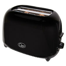 2 Slice Compact Toaster Variable Browing Cool Touch Plastic Body Black 750W