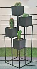 New York Sleek 4 Tier Stand Indoor/Outdoor Metal Plant Stand Planter Flower Pot