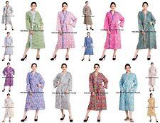 Women's Cotton Kimono Robe Indian Bath Robes Dressing Gown Intimates Wear Robe