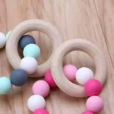 Baby Nursing Bracelets Wooden Teether Silicone Chew Beads Teething Rattles Toys