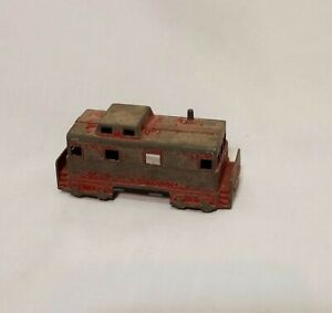 "Metal Train Caboose Vintage Midgetoy 1960s Rockford ILL USA Toy 1"""