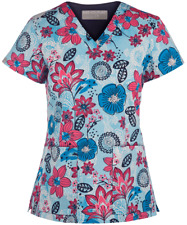 NWT Med Couture Print Scrub Top 8508-PTPD Size XS