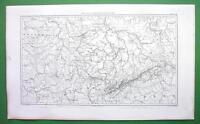 1859 ORIGINAL MAP - Germany Saxony & Francony