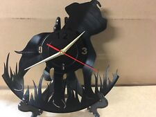 Repurposed Vinyl Record Clocks and Wall Art -  Staffy-2 With Stand