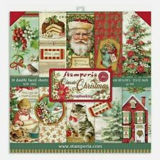 """Stamperia Paper Pad 12"""" X 12"""" 10 Pack Double Faced Sheets Classic Christmas"""