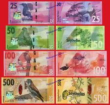 SEYCHELLES ISLAS FULL SET 25 50 100 500 Rupees rupias 2016 Pick NEW  SC / UNC