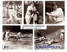 JOE DIMAGGIO BECKETT BAS CERTIFIED 8X10 SIGNED PHOTOGRAPH AUTOGRAPH  NY YANKEES