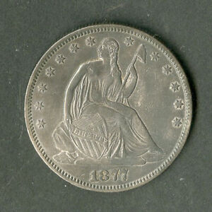 US Coin 1877-S Seated Liberty Half Dollar NO RESERVE!