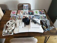 Nintendo Wii Mario Kart Pack Con Placa, Wii Fit, balance Mario Olympics,