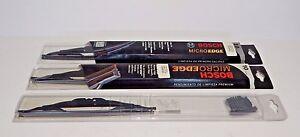 New Set of 3 Bosch Black Wiper Blades for MGB 1973-1980
