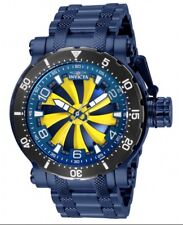 Invicta Automatic New Divers Watch Blue 52mm Coalition Forces Turbine NO BATTERY