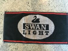 "Swan Light Black White Red Promo Bar Towel 16"" x 8"""