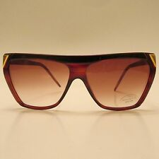 Guy Laroche Gls 800 Vintage Brown with Gold Accent Sunglasses Made in Italy