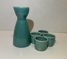 New listing Oggi saki wine set of 5, 8 oz Ceramic Wine Carafe, 4 1.5 oz Ceramic Saki Cups