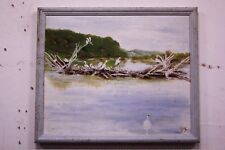 Dipinto / quadro olio su tela con cornice paesaggio XX sec firmato painting