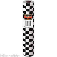 100ft Black White Checkered Chequered Party Buffet Banquet Roll Table Cover