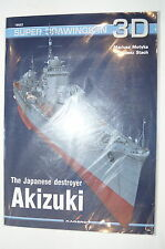 WW2 The Japanese Destroyer Akizuki in 3D Kagero 16022 Reference Book