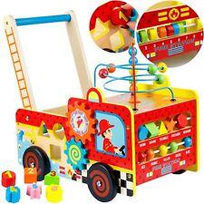 Lauflernwagen Holzspielzeug Motorikspielwagen GS0006 Motorikschleife Steckspiel