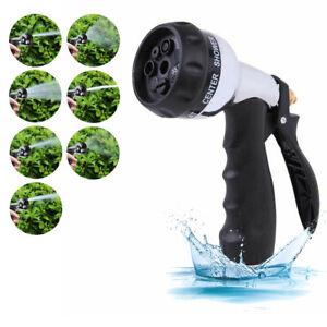 7 Dial Multi Function Garden Lawn Hose Pipe Water Nozzle Spray Gun Soft Grip UK