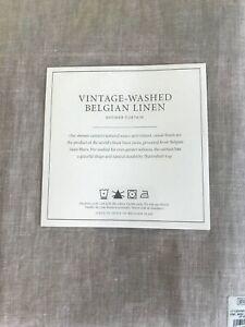 Restoration Hardware Vintage-Washed Belgian Linen Shower Curtain