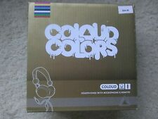 Coloud Colors C22M Stereo DJ Headphones w/ Microphone & Remote - Gold BRAND NEW!