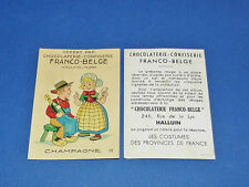 CHROMO CHOCOLATERIE FRANCO-BELGE HALLUIN NORD COSTUMES FRANCE CHAMPAGNE