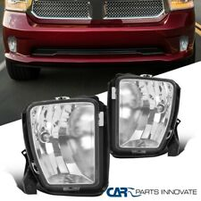 For 13-18 Dodge Ram 1500 Pickup Clear Bumper Driving Fog Lights Kit w/ Switch