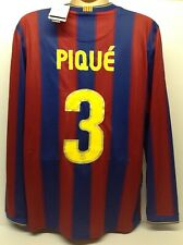 Barcelona 2009 2010 Home Football Shirt Gerard Pique #3 Long Sleeves With Tags