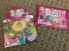 Birthday Surprize Squinkies Set & Series 4 Mystery Pack w/Horse, Cheerleader