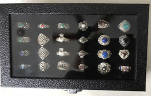 Beautiful Festival Ring Collection Silver Crystals Celtic