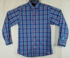 c3e33c51ebc81 Tommy Hilfiger Women s Blue Plaid multi color Long Sleeve Button Up Shirt  SZ 18