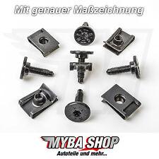 10x Set Metall Halterklammern + Torx Schraube für Fiat Lancia Citroen Alfa Romeo