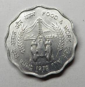 India-Republic 10 Paise 1976(B) Aluminum KM#30 UNC
