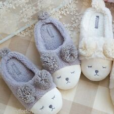 Damen Schaf Huasschuhe Hüttenschuhe Pantoletten Slipper Cute Schuhe Winter Warm