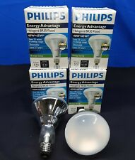 LOT OF 4 NEW PHILIPS FLOOD LIGHT BULB LAMP DIMMABLE 40W BR30 HALOGEN