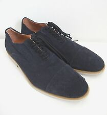 """New BACCO BUCCI """"DAVOR"""" Navy Suede Perforated Cap Toe Oxford Shoes US-13"""