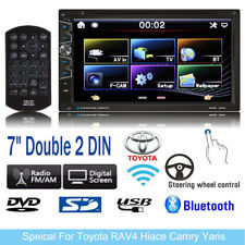 """Car Stereo DVD Player 7"""" Double 2 DIN 1080P For Toyota RAV4 Hiace Camry Yaris"""