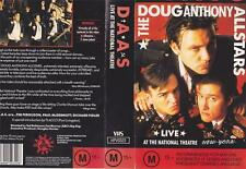 THE DOUG ANTHONY ALLSTARS VIDEO VHS excellent condition