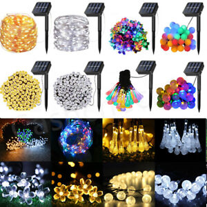 30 - 200 LED Solar Powered String Fairy Lights Wedding Outdoor Garden Party Home