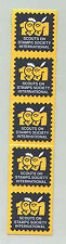 1991 World Scout Jamboree SCOUTS ON STAMPS SOCIETY INT'L (SOSSI) CONT STICKER