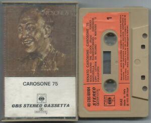 CASSETTE TAPE MC RENATO CAROSONE 75 (Cbs 75) 1° stampa swing jazz pop VG+