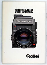 Rolleiflex Orig. Sales Brochure for Rolleiflex SL 2000F - 1982 or 1983 -24 pages