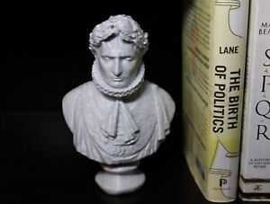 """Napoleon Bust; 7"""" French General/Emperor Statue; Conquered Europe"""