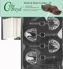 Teeth Lolly Chocolate Mold w/Cybrtrayd Instructions FREE STICKS