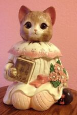 "Vintage Emily Ceramic Cat Cookie Jar-11"" in Excellent Condition"